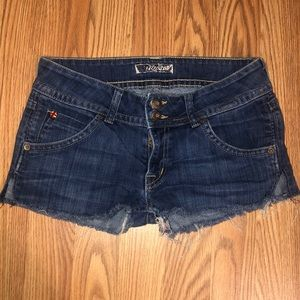 Hudson cut off jean shorts.